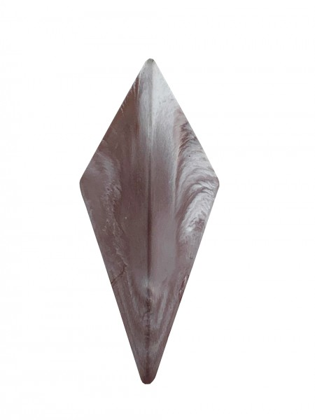 Kleiderhaken aus Beton marmoriert braun/weiss